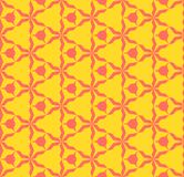 Bright colorful abstract geometric seamless pattern. Coral and yellow color. Bright colorful geometric seamless pattern. Simple vector abstract texture with vector illustration