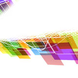 Bright colorful abstract wave template Stock Photo