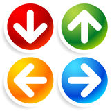 Bright, colorful Arrow Icons Royalty Free Stock Image
