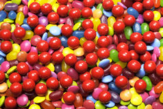 Bright colorful background abstract of multi-colored candy lollies and sweets Royalty Free Stock Photography