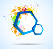Bright colorful background with hexagons Stock Image