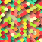 Bright colorful background with hexagons Stock Photos