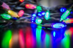 Blue, red and green lights. Royalty Free Stock Photos