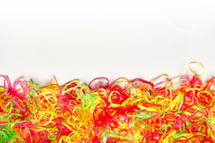 Bright Colorful background of plastic band Royalty Free Stock Photos