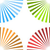 Bright colorful background with starburst at corners Royalty Free Stock Photography