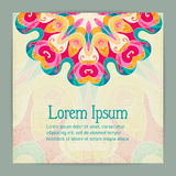 Bright Colorful Background With Mandala Pattern Stock Photos