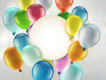 Bright colorful balloons. Light festive background with bright colorful balloons Royalty Free Stock Photos