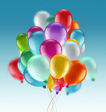 Bright colorful balloons. Light festive background with bright colorful balloons Stock Image