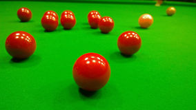 Bright colorful balls to play snooker Royalty Free Stock Photos