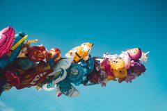 Bright colorful baloons stock images
