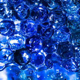 Bright colorful blue balls hydrogel Stock Photos