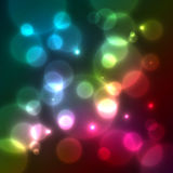 Bright colorful bokeh effect vector background Royalty Free Stock Image