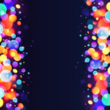 Bright colorful bokeh light effect abstract stock illustration