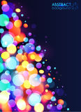 Bright colorful bokeh light effect abstract vector illustration