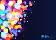 Bright colorful bokeh light effect abstract royalty free illustration