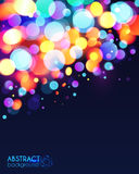 Bright colorful bokeh light effect abstract Royalty Free Stock Photos