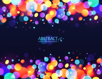 Bright colorful bokeh light effect holiday Stock Image