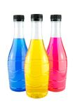 Bright colorful bottles Royalty Free Stock Image