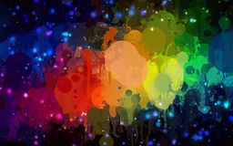 Bright colorful brush strokes background. Vector version Royalty Free Stock Images