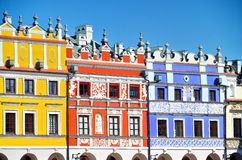 Bright Colorful buildings Stock Image