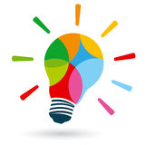 Bright colorful bulb Stock Images