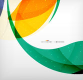 Bright colorful business flowing shapes design Stock Image