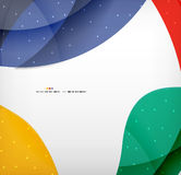 Bright colorful business flowing shapes design Stock Images