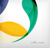 Bright colorful business flowing shapes design Royalty Free Stock Photography