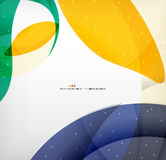 Bright colorful business flowing shapes design Stock Photo