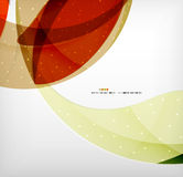 Bright colorful business flowing shapes design Royalty Free Stock Photo
