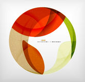 Bright colorful business flowing shapes design Royalty Free Stock Images