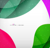 Bright colorful business flowing shapes design Royalty Free Stock Photos