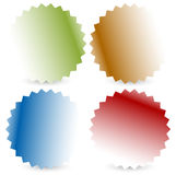 Bright colorful button, badge shapes with shadow. Royalty free vector illustration Royalty Free Illustration