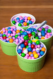 Bright colorful candy in dishes Royalty Free Stock Photography