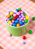 Bright colorful candy in dishes Royalty Free Stock Photos