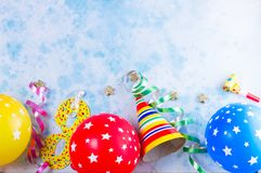 Bright colorful carnival or party scene Stock Image