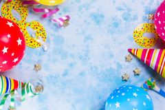 Bright colorful carnival or party scene Royalty Free Stock Image