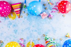 Bright colorful carnival or party scene Royalty Free Stock Images