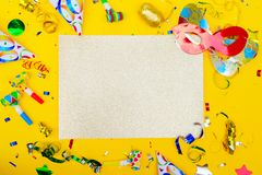 Bright colorful carnival or party scene Stock Images