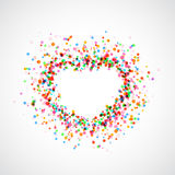 Bright colorful catching heart shape background - holi dust Royalty Free Stock Photo