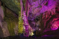 Bright and colorful cave Royalty Free Stock Image