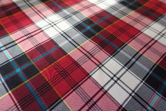 Bright colorful checked cloth with plaid print Stock Images