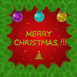 Bright and colorful christmas background. Stock Photos
