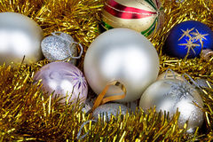 Bright and colorful Christmas balls Stock Photography