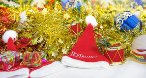 Bright colorful christmas decorations Royalty Free Stock Photos