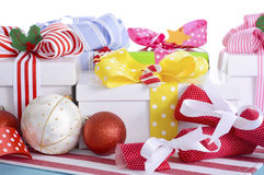 Bright Colorful Christmas Gifts Stock Photography