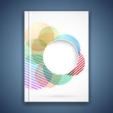 Bright colorful circle notebook cover template Stock Photo