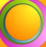 Bright colorful circles background Stock Photos