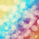 Bright colorful circles. With bokeh background Royalty Free Stock Images