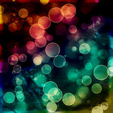 Bright colorful circles with bokeh background. Abstract grunge Background or texture, illustration Stock Images